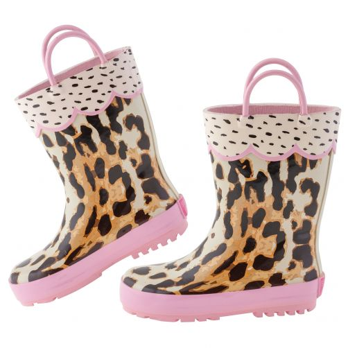 Stephen-Joseph---Rainboots-for-girls---Leopard---Multi/Pink