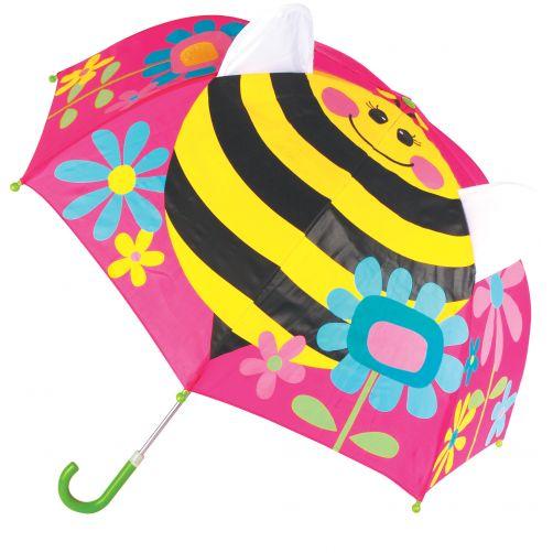 Stephen-Joseph---Pop-up-umbrella-for-girls---Bee---Pink