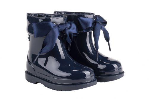 Igor---Rainboots-for-girls---Bimbi-Lazo-high-gloss-with-bow---Navy
