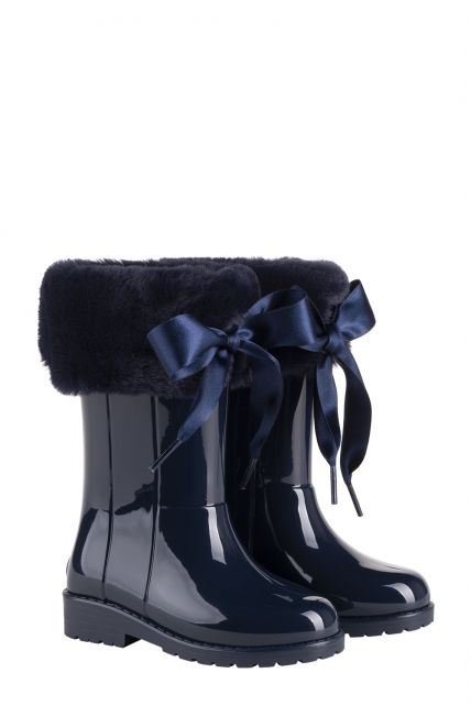 Igor---Rainboots-for-girls---Campera-Charol-Soft-high-gloss-with-bow---Navy