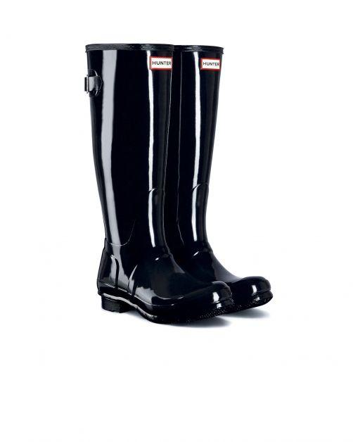 Hunter---Adjustable-rainboots-for-women---Originall-Tall---Glossy-Black