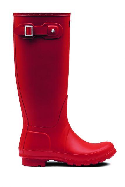 Hunter---Rainboots-for-women---Original-Tall---Military-Red