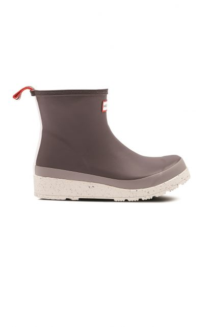 Hunter---Rainboots-for-women---Play-Short-Speckle-Sole---Onyx